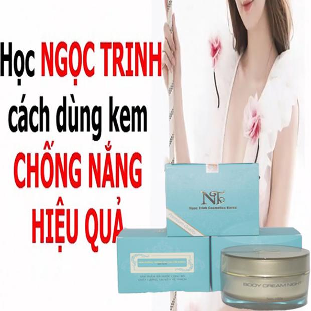 Kem trắng da Toàn Thân body whitening Ngoc Trinh Cosmetics