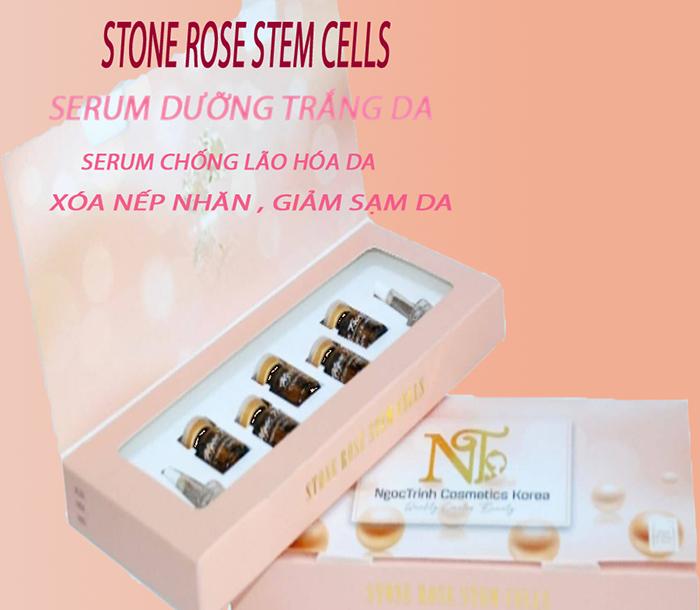 (Review )Serum dưỡng trắng da - Ngoc Trinh -stone rose stem cells